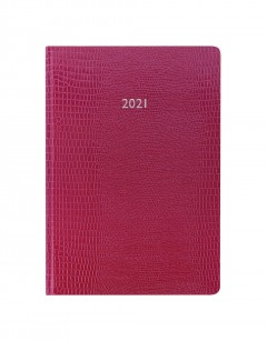 Iguana A5 Week to View Diary 2021 Pink