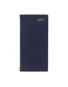 Belgravia Slim Week to View Leather Diary with Planners 2021 Navy