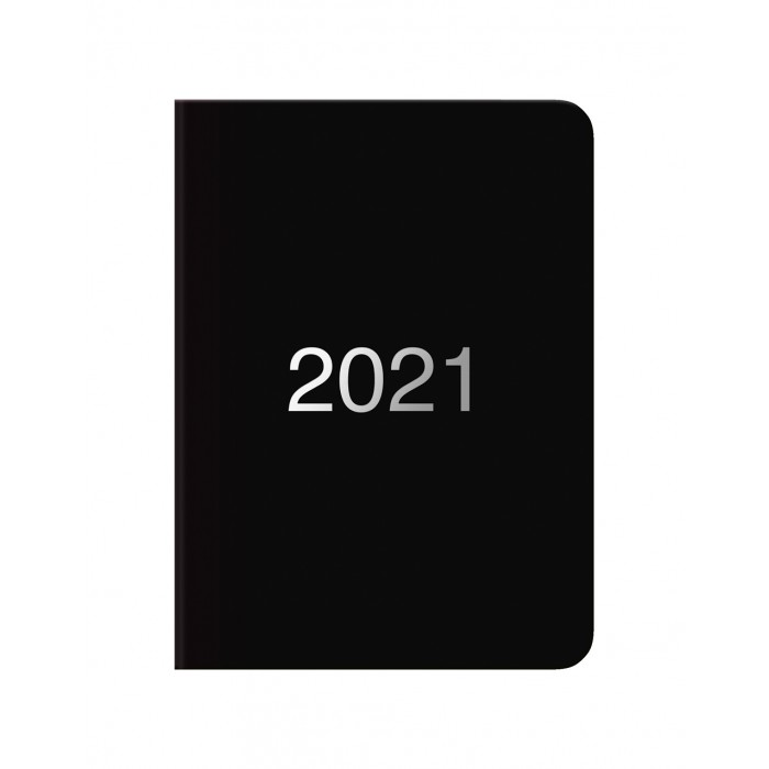 Dazzle A6 Day to Page Diary with Appointments 2021 Black