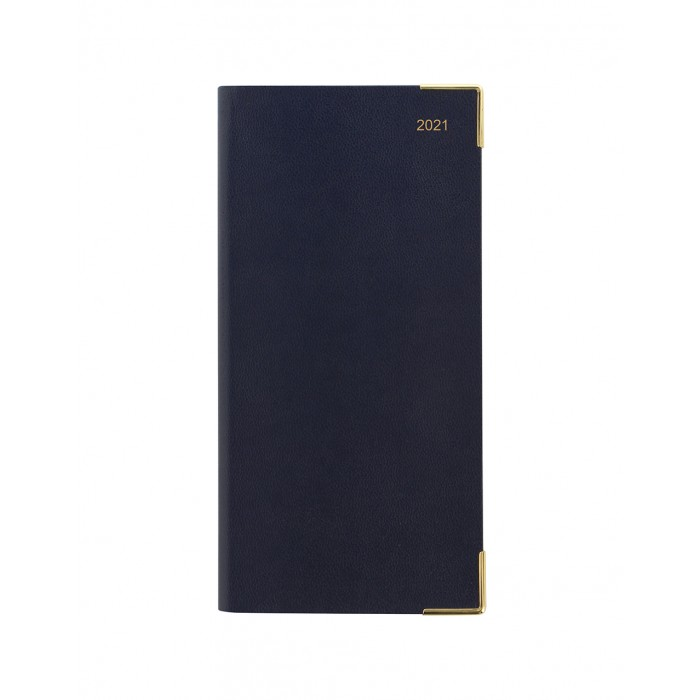 Classic Slim Landscape Week to View Diary with Appointments 2021 Dark Blue