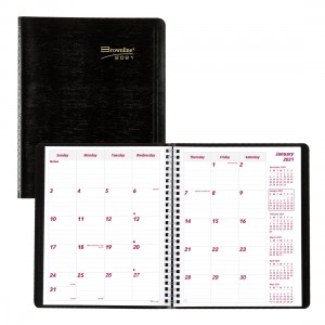 Monthly Planner 2021 Black
