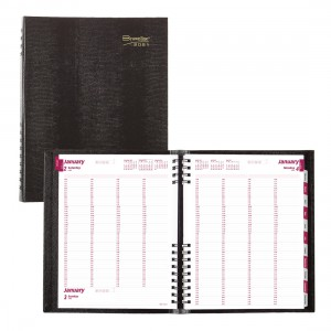 4-Person Daily Appointment Book CoilPro 2021 Black