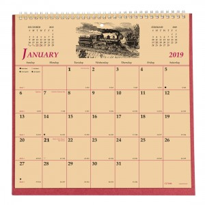 Monthly Wall Calendar 2019