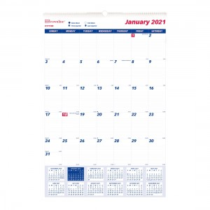 Monthly Wall Calendar 2021