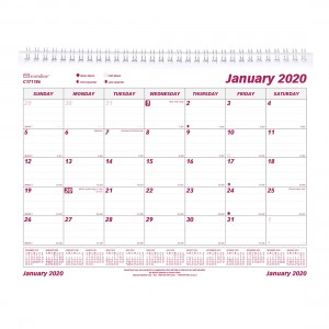Monthly Wall Calendar 2020