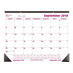 Monthly Desk Pad or Wall Calendar 2019