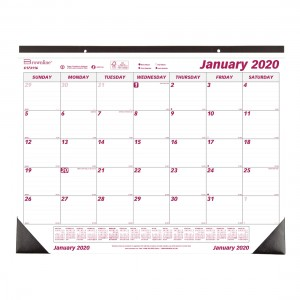 Monthly Desk Pad or Wall Calendar 2020