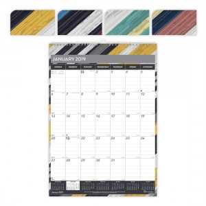 Colorful Monthly Wall Calendar Geometric 2019