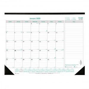 Ecologix Monthly Desk Pad 2020