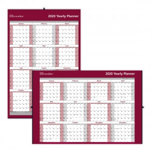 Laminated Yearly Wall Calendar 2021, English