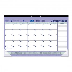 Desk Pad or Wall Calendar 2021