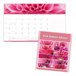 Pink Ribbon/Imagine Monthly Desk Pad 2019