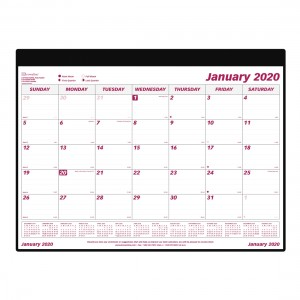 Monthly Desk Pad 2020