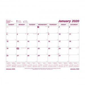 Monthly Desk Pad Refill 2020