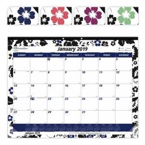 Colorful Monthly Desk Pad Blossom 2019