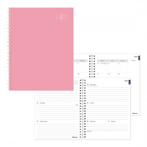 Academic Weekly Planner Pastel Color Rush 2019-2020