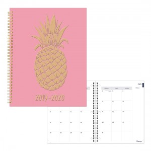Academic Monthly Planner Pineapple 2019-2020