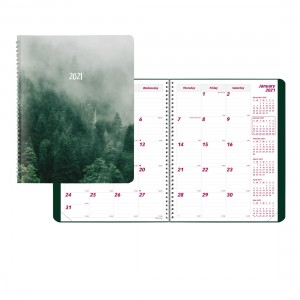 Monthly Planner 2021, Mountain Design